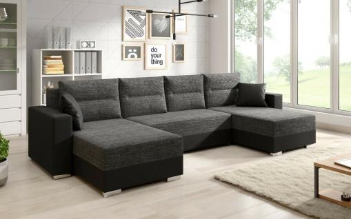 Sofa Couch Garnitur Sofagarnitur CLARA U mit Schlaffunktion Wohnlandschaft NEU