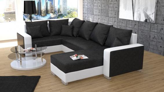 Couch Garnitur Ecksofa Sofagarnitur Sofa PALIO 1 U Wohnlandschaft Schlaffunktion