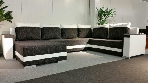 Couch Garnitur Ecksofa Sofagarnitur Sofa TUNIS U Wohnlandschaft Schlaffunktion