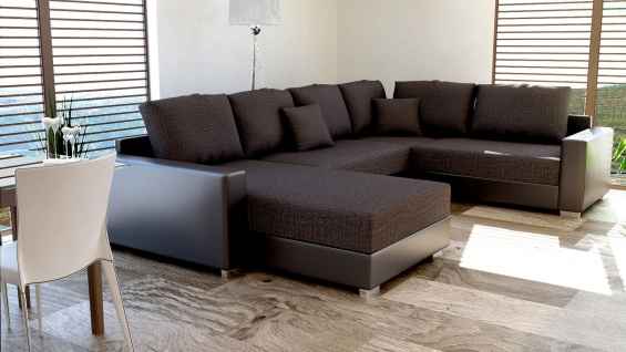 Couchgarnitur Polsteecke Sofagarnitur Sofa STY 30U Wohnlandschaft Schlaffunktion