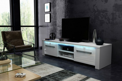 Sideboard Lowboard TV Fernsehschrank HEELIX 160 cm Kommode inkl LED Highboard