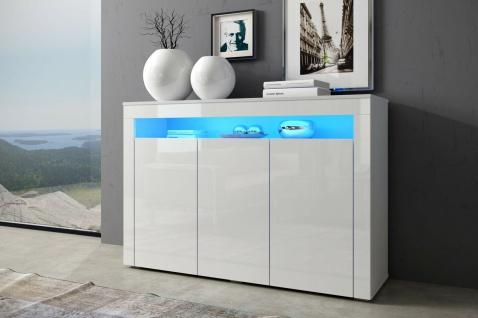 Sideboard Kommode Anrichte Highboard SOPFIA 130 cm Front Hochglanz Korp matt LED