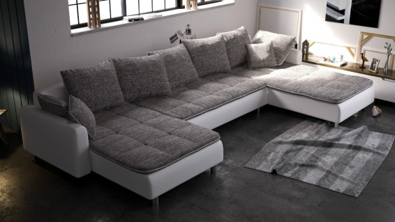 Sofa Couch Couchgarnitur Ecksofa Eckcouch Sofagarnitur VOLCANO NEU 1-2 Wochen
