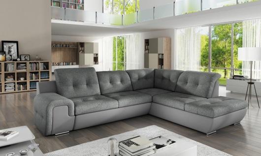 Sofa Couchgarnitur Couch Sofagarnitur GALAXY B Wohnlandschaft Schlaffunktion - Vorschau 1