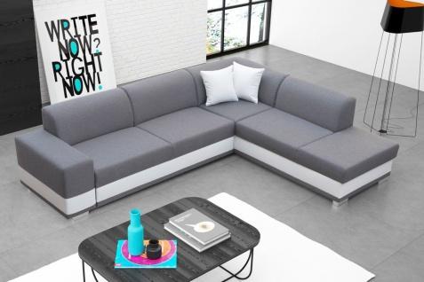 Couch Sofa Couchgarnitur Darco L Polesterecke mit Schlaffunktion Wohnlandschaft