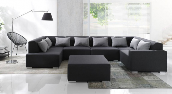 Couchgarnitur Big Sofa CUBIC 6 Eck Couch Wohnlandschaft Ecksofa Polsterecke