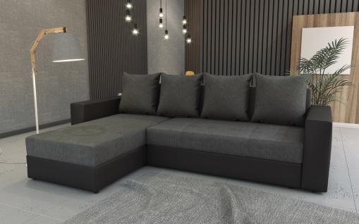 Couch Garnitur Ecksofa Sofagarnitur Sofa FOXY Schlaffunktion Fiesta bl. Monta 95