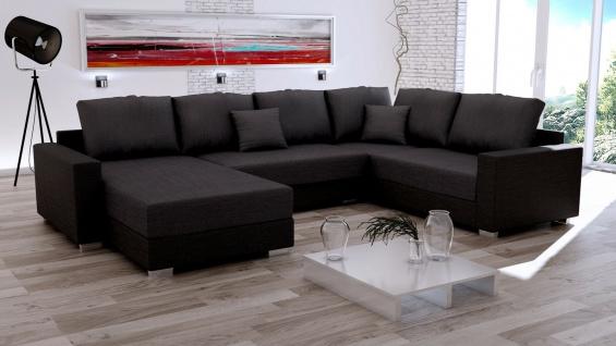 Couch Garnitur Ecksofa Sofagarnitur Sofa STY 15 U Wohnlandschaft Schlaffunktion