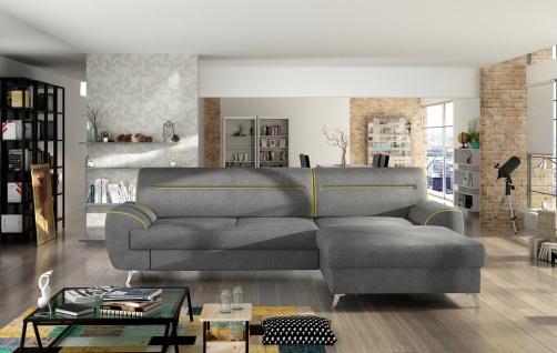 Couchgarnitur MOON L Sofa mit Schlaffunktion Couch Polsterecke Ecksofa