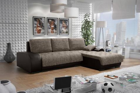 Sofa LEON 8 L Couchgarnitur Couch Sofagarnitur Wohnlandschaft Schlaffunktion
