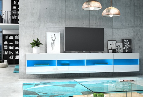 TV Board Lowboard Unterschrank Sideboard RITTA matt oder hochglanz 200 cm