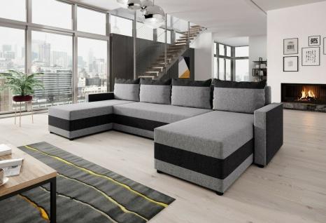 Sofa Couch Garnitur Sofagarnitur VELVET U mit Schlaffunktion Wohnlandschaft NEU