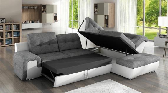 Sofa Couchgarnitur Couch Sofagarnitur GALAXY B Wohnlandschaft Schlaffunktion - Vorschau 2