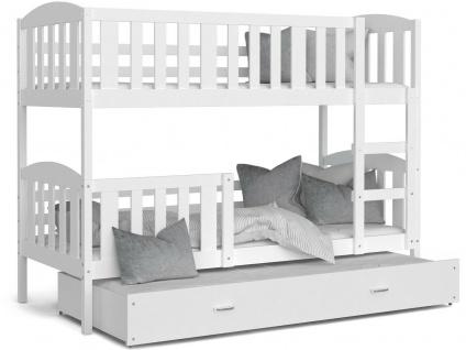 Etagenbett Hochbett Kinderbett Doppelbett KU3 1848 3 Pesonen 80x190 cm