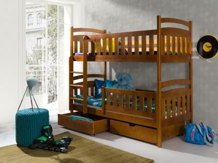 Etagenbett Hochbett Kinderbett Doppelbett PETER NEW 90x200 unschädlich lackiert