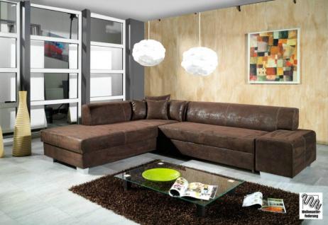 Couch Couchgarnitur Sofa OSCAR mit Schlaffunktion Polsterecke Wohnlandschaft NEU