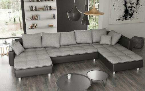 VOLCANO U Form bequeme Federung Couchgarnitur Couch Polster Sofa Wohnlandschaft