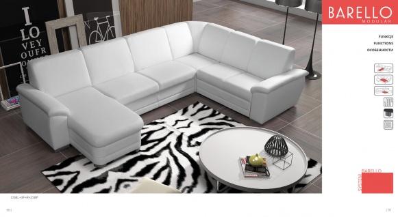 Couchgarnitur Sofa Couch BARELLO osbl+3f+r+2sbp Wohnlandschaft Schlaffunktion