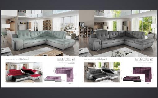 Sofa Couchgarnitur Couch Sofagarnitur GALAXY B Wohnlandschaft Schlaffunktion - Vorschau 3