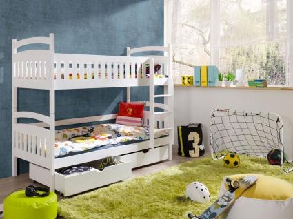 Etagenbett Hochbett Kinderbett Doppelbett MARC NEW 90x200 unschädlich lackiert
