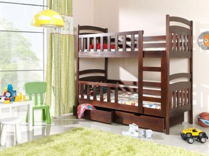 Etagenbett Hochbett Kinderbett Doppelbett LILLI 90x200 cm unschädlich lackiert