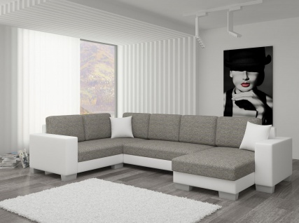 Couch Couchgarnitur Sofa Polsterecke MC 01 U Wohnlandschaft Schlaffunktion