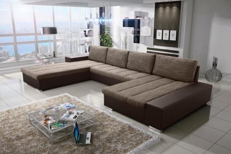Sofa Couchgarnitur Couch Sofagarnitur VERONA 8 U Polsterecke mit Schlaffunktion
