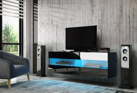 TV Board Lowboard Unterschrank Sideboard RITTA matt oder hochglanz 100 cm