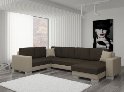 Couch Couchgarnitur Sofa Polsterecke MC 06 U Wohnlandschaft Schlaffunktion