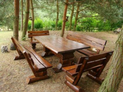 Gartenmöbel Sitzgarnitur Naturholz Sommer Traum für 12 Personen Outdoor