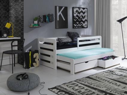 Etagenbett Hochbett Kinderbett Doppelbett SENSO 90x200 unschädlich lackiert