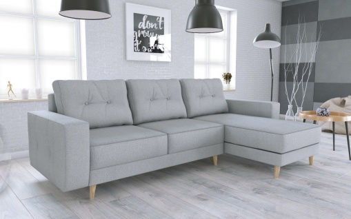 Couch Garnitur Ecksofa Sofagarnitur Sofa VINCENT L Schlaffunktion Wohnlandschaft