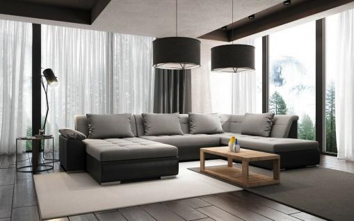 LIMO U Form mit Schlaffunktion Couchgarnitur Couch Polster Sofa Wohnlandschaft