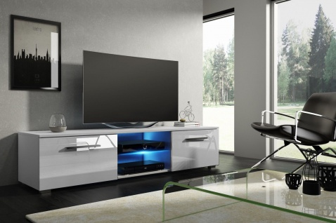 TV Board Lowboard Unterschrank Sideboard MOON matt oder hochglanz 140 cm