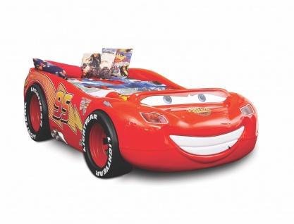 Kinderzimmer Bett Kinderbett McQueens ABS in rot inkl. Matratze Lattenrost NEU