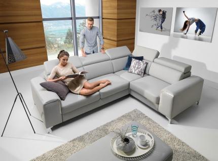 Sofa Couchgarnitur Couch GENOVA CORNER Polsterecke Wohnlandschaft