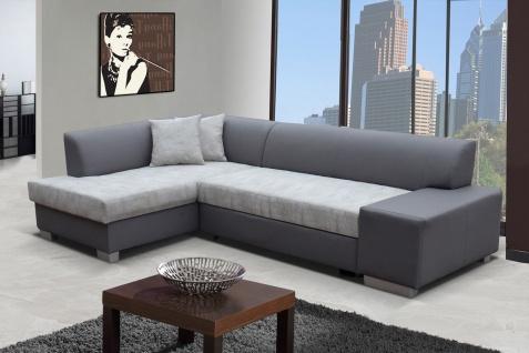 Sofa Couchgarnitur Couch Sofagarnitur FABIO L Wohnlandschaft mit Schlaffunktion
