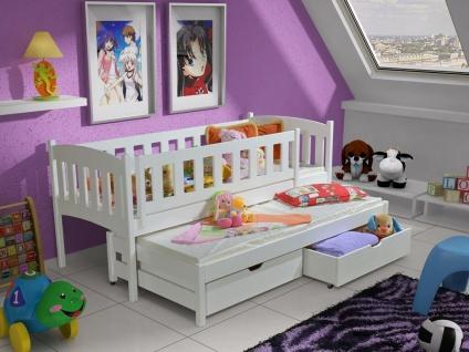 Kinderbett Doppelbett AMELIA 90x190 unschädlich lackiert, diverse Farbauswahl