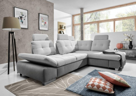Couchgarnitur Couch Cremona 3fbl + osbp Schlaffunktion Sofa Polstergarnitur