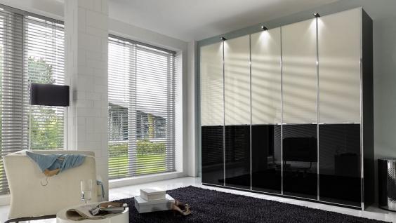 Kleiderschrank SHANGHAI B 250 H 216 cm 3x LED Drehtüren Schrank Schlafzimmer