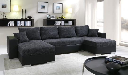 Sofa Couchgarnitur Couch Sofagarnitur 4112200/3 U Wohnlandschaft Schlaffunktion
