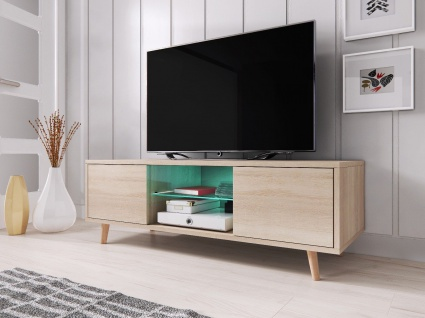 TV Board Lowboard Unterschrank Sideboard Sweden matt oder hochglanz 140 cm