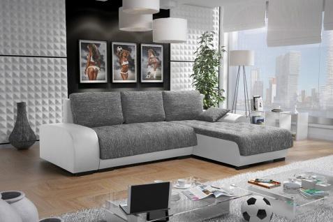 Sofa Couchgarnitur Couch Sofagarnitur LEON 4 L Polsterecke mit Schlaffunktion