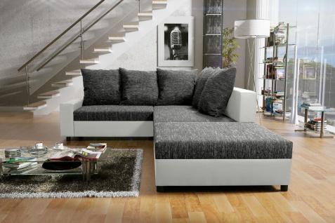 Couch Couchgarnitur Sofa Polsterecke mit Hocker Wohnlandschaft SONJA 4 Couch