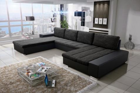 Sofa Couchgarnitur Couch Sofagarnitur VERONA 3 U Polsterecke mit Schlaffunktion