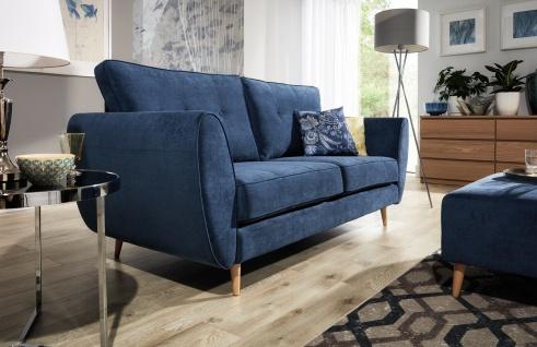 AMELIA 2 er Sofa mit Hocker Couchgarnitur Couch Polster Sofa Wohnlandschaft NEU - Vorschau 3