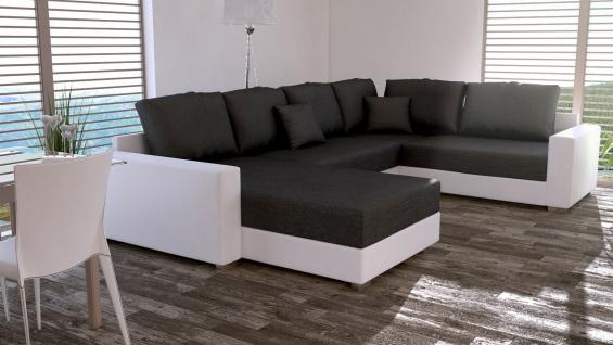 Couch Garnitur Ecksofa Sofagarnitur Sofa STY 5 U Wohnlandschaft Schlaffunktion