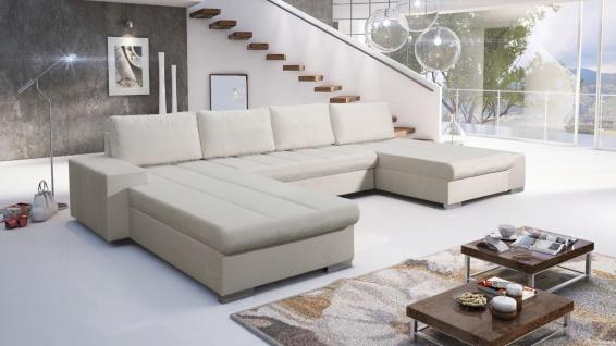 Sofa Couchgarnitur Schlaffunktion Couch Sofagarnitur VERONA 7 U Ottomane links