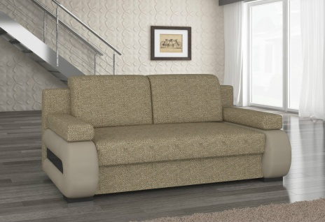 Couch Couchgarnitur Sofa Polstergarnitur LA 08 mit Schlaffunktion Jugendsofa