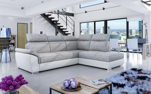 Couchgarnitur Loretto Schlaffunktion Bettkasten Polsterecke Sofa bequem günstig
